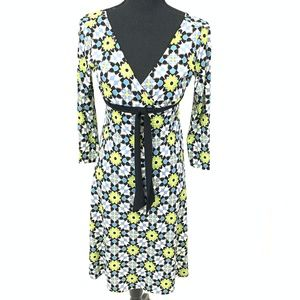 London Times Front Bow Flower Dress 10